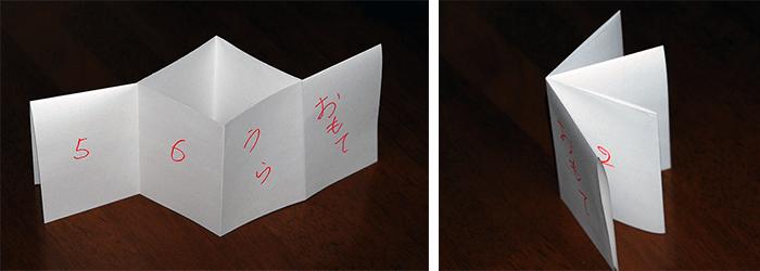 折り本で簡単に小冊子ができます
