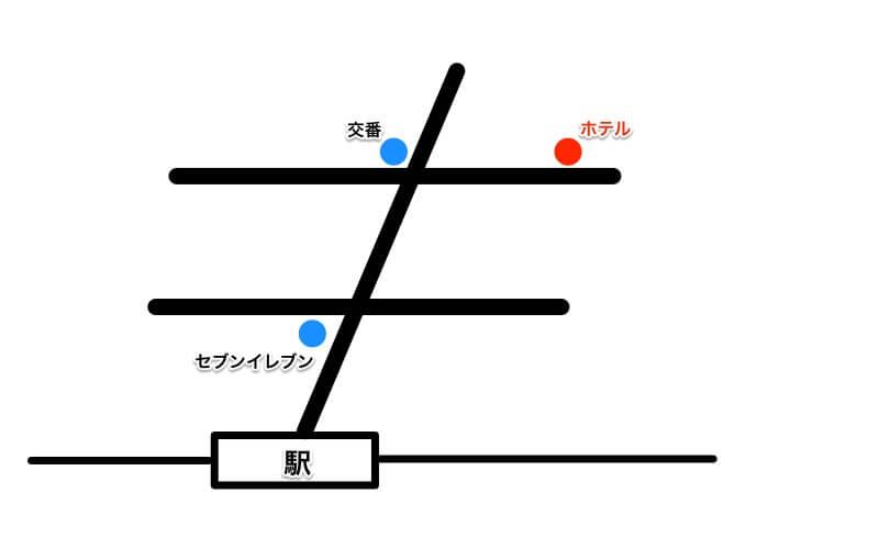 簡単な案内図の例