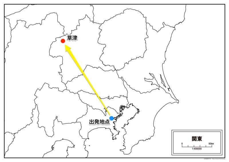 位置関係の分かる地図の例